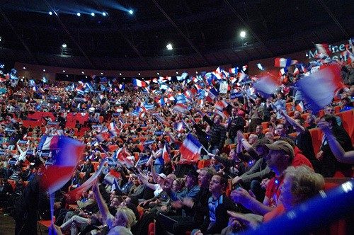 Grand Meeting de Marine Le Pen &#224; Lyon
